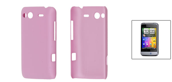 Pink Rubberized Hard Plastic Back Case for HTC Salsa G15