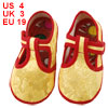Pair Dragon Pattern T Strap Yellow Baby Crib Toddler Shoes US 4