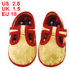 Yellow Sewing Dragon Pattern T Strap Baby Crib Infant Shoes US 2....