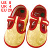 Yellow Dragon Pattern T Strap Baby Toddler Shoes US 5