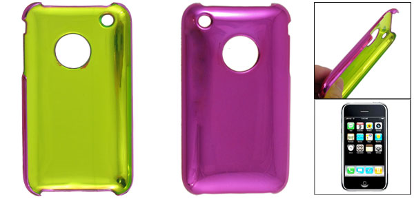 Magenta Smooth Plastic Back Case Protector for Apple iPhone 3G