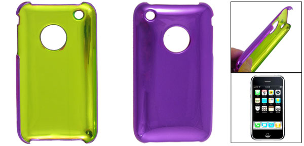 Purple Hard Plastic Back Case Cover for Apple iPhone 3G