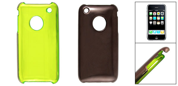 Protective Coffee Color Plastic Case for Apple iPhone 3G