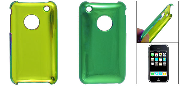 Glazed Green Plastic Case Cover for Apple iPhone 3G