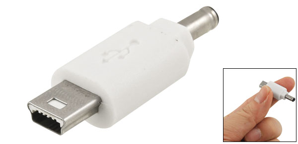 3.5mm Male DC Power Charger Adapter Connector White for Nintendo DS