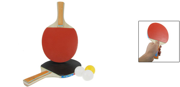 Ping Pong Paddle Table Tennis Racket Sidewards Pat 3 Balls