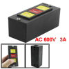 AC 600V 3A Up Stop Down Momentary Push Button Switch for Garage Rolling Doors