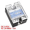 Termprature Control Solid State Relay SSR 10A 3-32V DC 24-480V AC...