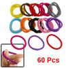60 Pcs Assorted Color Elastic Hair Band Ponytail Holder