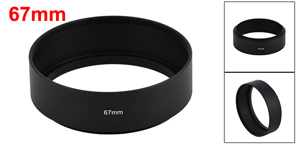 Filter Screw Mount 67mm Metal Lens Hood for Digital Camera