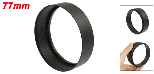 77mm Screw Mount DV Digital Video Camera Filter Lens Hood