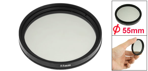 55mm Circular Polarizing PL-CIR CPL Filter Black for Camera