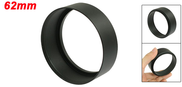 62mm Screw Mount Metal Lens Hood for Digital Video Camera