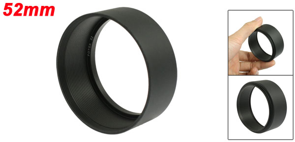 Fliter Thread Mount 52mm DV Digital Video Camera Lens Hood