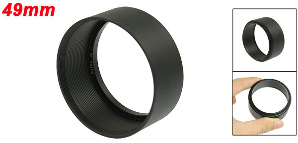 Anti-glare Sun Shade 49mm Camera Screw Mount Lens Hood