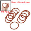 10 Pcs 30mm x 2.5mm Silicone O Ring Oil Sealing Washers Grommets ...