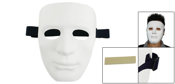 Men Airsoft War Game Full Face Theatrical Gray Plastic White