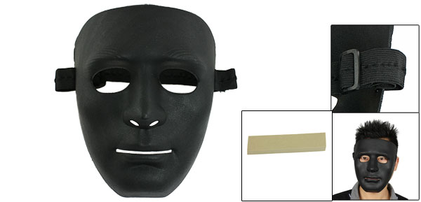 Airsoft War Game Full Face Plastic Plain Mask Black for Men