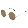 Metal Full Frame Colored Round Lens Sunglasses for Men