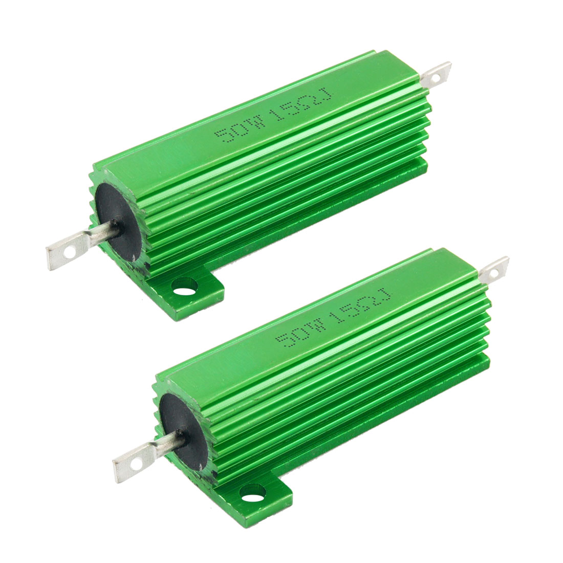 50W-15-Ohm-Screw-Tap-Mounted-Aluminum-Housed-Wirewound-Resistors-2-Pcs