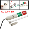 AC 220V Red Green Buzzer Sound Industrial Warning Signal Tower Alarm Lamp