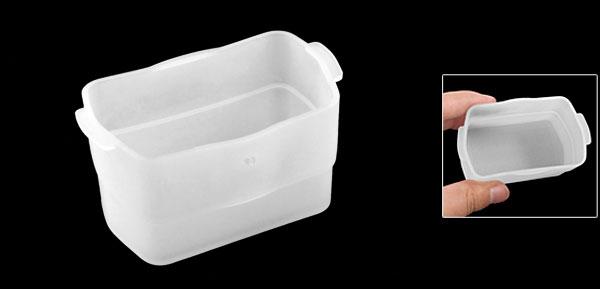Plastic Digital Camera Flash Diffuser Cover Clear White for Nikon SB-600 SB-800