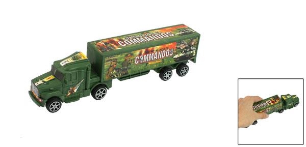Children Plastic Style 8 Wheels Green Mack Truck Toy