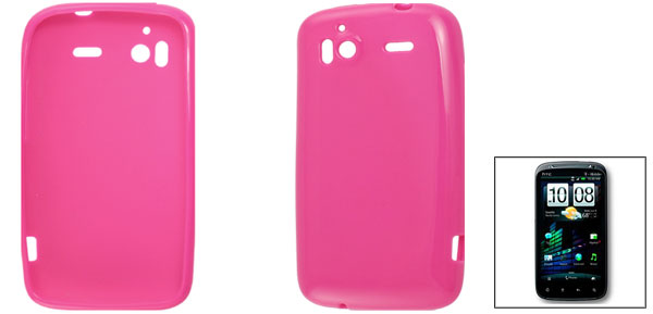 Fuchsia Soft Plastic Phone Case for HTC Sensation 4G G14