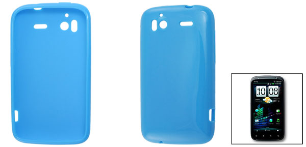 Blue Soft Plastic Case Shield for HTC Sensation 4G G14