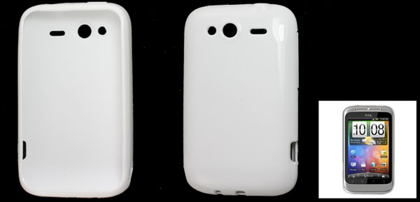 White Soft Plastic Protector Back Case Cover for HTC Wildfire S G13 G8S