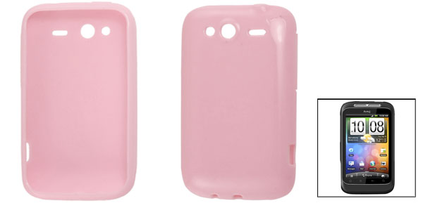 Pink Soft Plastic Protector Phone Cover Case for HTC G13 G8s