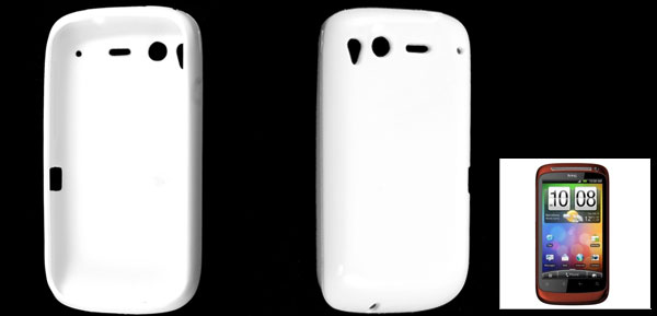 White Protective Soft Case Cover for HTC Desire S G12
