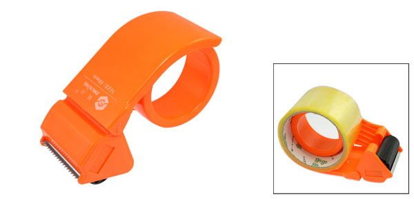 Orange Hard Plastic Packaging Hand Tape Gun Roll Dispenser Cutter