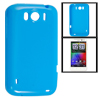 Blue Smooth Soft Plastic Protector Cover for HTC Sensation XL X31...