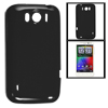 Black Smooth Soft Plastic Protector Cover for HTC Sensation XL X3...