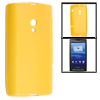 Yellow Soft Smooth Plastic Protective Case Cover Skin for Sony Ericsson X10