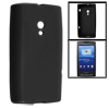 Black Smooth Soft Plastic Protector Cover Case for Sony Ericsson X10