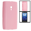 Pink Soft Smooth Plastic Protective Case Cover Skin for HTC X10