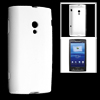 White Soft Smooth Plastic Protective Case Cover Skin for Sony Ericsson X10