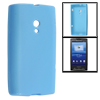 Smooth Soft Plastic Protective Case Clear Blue for HTC X10