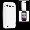 White Protective Soft Plastic Case Cover for HTC Incredible S G11...