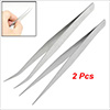 Lady Pair Cosmetic Tool Metal Slanted Tip Eyebrow Tweezers Silver...