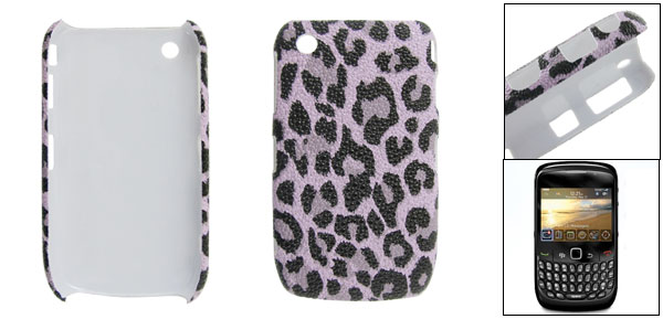 Hard Plastic Black Leopard Pattern Phone Back Case for Curve 8520