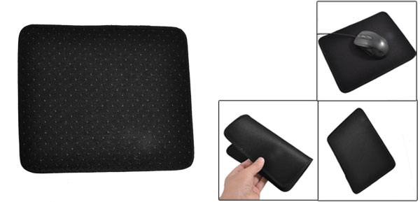 Charcoal Rectangle Black Mouse Pad for Laptop