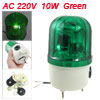 AC 220V 10W Green Rotating Sonorous Light Industrial Signal Warni...