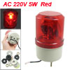AC 220V 5W Red Rotating Light Industrial Signal Tower Warning Lam...