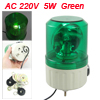 AC 220V 5W Green Rotating Sonorous Light Industrial Signal Tower ...