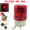 AC 220V 5W Red Rotating Sonorous Light Industrial Signal Tower Wa...