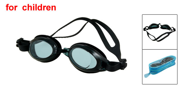 Black Anti-slip Adjustable Strap Underwater Swimming Goggles Glasses