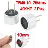 Pair Aluminum Housing 40KHz Ultrasonic Transducer Transmitter Rec...